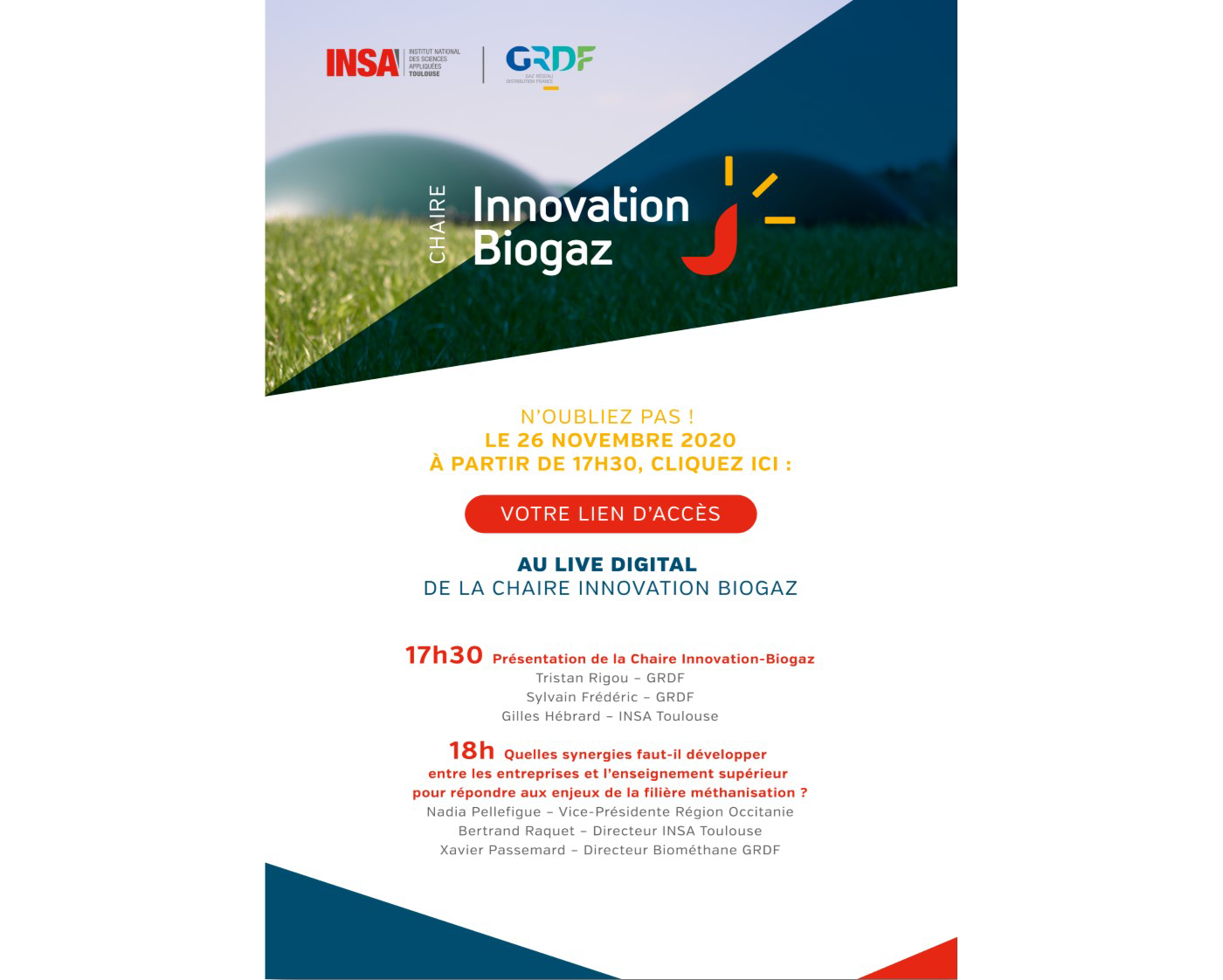 Inauguration de la Chaire Innovation Biogaz GRDF